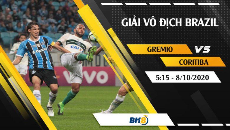 Soi kèo BK8   Gremio vs Coritiba – 5h15 ngày 8/10/2020