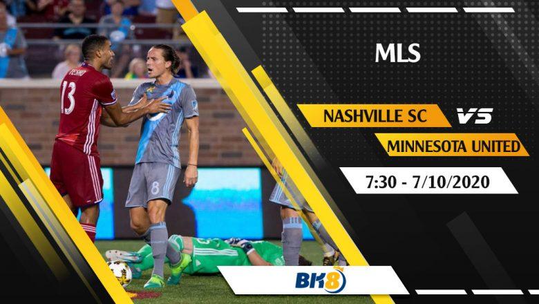 Soi kèo BK8   Nashville SC vs Minnesota United – 7h30 ngày 7/10/2020